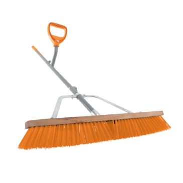 Ergiesystems 24in Wide Steel Shaft Strain Reducing Indoor/outdoor Push Broom - 56in Save 16% Brand Ergiesystems.