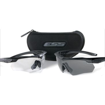 Ess Crossbow 2x Eyeshields - Two Pairs Crossbow Frames Clear/smoke Lensesfree 2 Day Shipping Save 14% Brand Ess.
