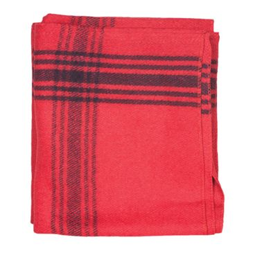 Fox Outdoor Navy-Striped Red Wool Blanket Save 25% Brand Fox Outdoor.