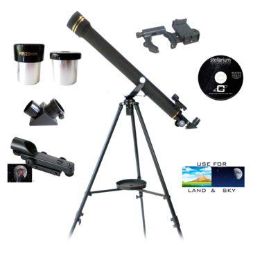 Galileo 700mmx60mm Refractor Telescope W/adapter Kit Save 55% Brand Galileo.