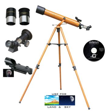 Galileo G-860wg 800x60mm Wood Grain Refractor Telescope Kit Save 46% Brand Galileo.