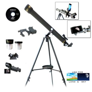 Galileo Refractor Telescope With Smartphone Photo Adapter 1.25in 6mm Eyepiece, 20mm Eyepiece Save 50% Brand Galileo.