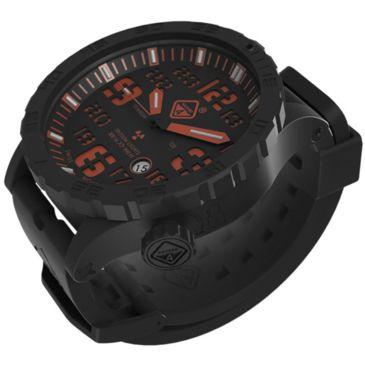 Hazard 4 Heavy Water Diver Titanium Black Pvd Dive Watch, Black Dial/orange Graphicsfree 2 Day Shipping Save 10% Brand Hazard 4.