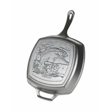Lodge Wildlife Series Cast Iron Grill Pan With Fish Scene Save 22% Brand Lodge.