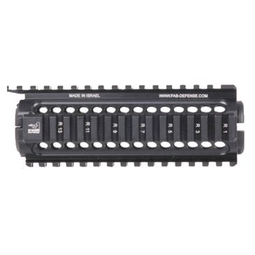 "Fab Defense Aluminum Black Quad Rail - 6""/8""/11.5"" Long Save 11% Brand Fab Defense."