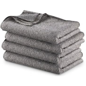Military Surplus Gray Wool Blend Blanket Brand Military Surplus.