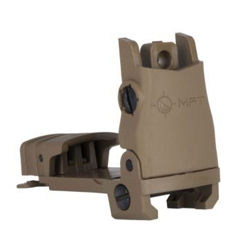 Mission First Tactical Polymer Flip Up Rear Sight, W/ Windage Adjustment Mounts Brand Mission First Tactical.
