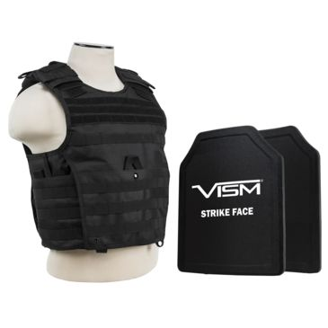 Ncstar Expert Carrier Vest W/ Two 11 In X 14 In Shooters Cut Hard Pe Ballistic Panels Save 20% Brand Ncstar.