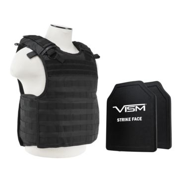 Ncstar Quick Release Carrier Vest W/ Two 11 In X 14 In Shooters Cut Ballistic Panels Save 20% Brand Ncstar.