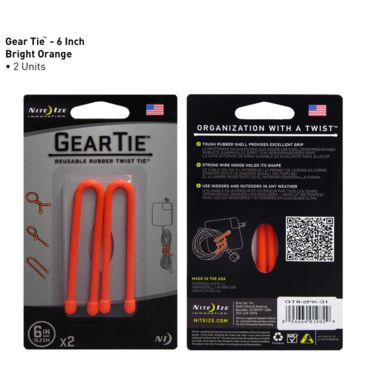 "Nite Ize 6"" Gear Tie Save Up To 33% Brand Nite Ize."