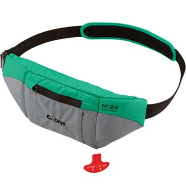 Onyx M-24 Manual Inflatable Belt Pack, Green Save 37% Brand Onyx.