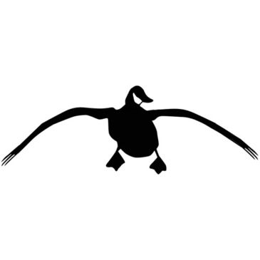 "Outdoor Decals Landing Goose 4""x12"" White Save 20% Brand Outdoor Decals."