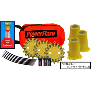 Powerflare 3-Position Cone Adapter Kit With 3-Pack Soft Pack Of Magnetic Powerflare Lights Save Up To $15.20 Brand Powerflare.