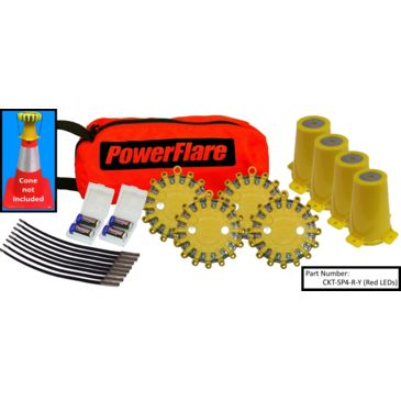 Powerflare 4-Position Cone Adapter Kit With 4-Pack Soft Pack Of Powerflare Lights Brand Powerflare.
