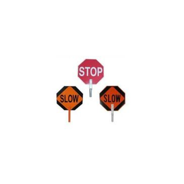 Pro-Line Traffic Safety 18inch Paddle Sign - Stop/slow Brand Pro-Line Traffic Safety.