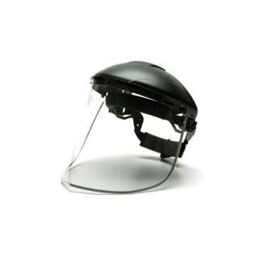 Pyramex Helmet Face Shield - Clear Aluminum-Bound Pc, Shield Only - Brand Pyramex.