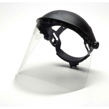 Pyramex Helmet Faceshield - Clear Petg, 8x15in, .040 Thick, Shield Only, Single Save 28% Brand Pyramex.