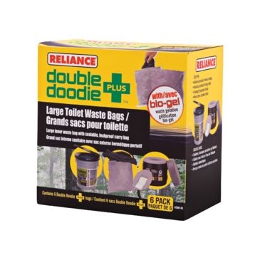 Reliance Double Doodie Toilet Waste Bags Save 33% Brand Reliance.