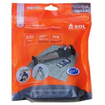 Sol Heavy Duty Emergency Blanket 0140-1225 Save 13% Brand Sol.