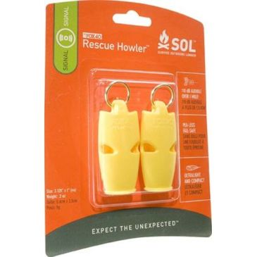 Sol Rescue Howler Whistle - Pack Of 2 0140-1002 Save Up To 22% Brand Sol.