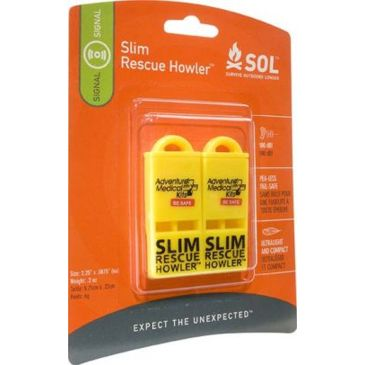 Sol Slim Rescue Howler Whistle - Pack Of 2 0140-0010 Brand Sol.