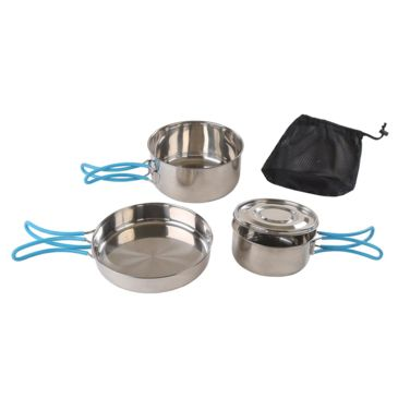 Stansport Stainless Steel Cook Set, W/mesh Carry Bag Save 39% Brand Stansport.