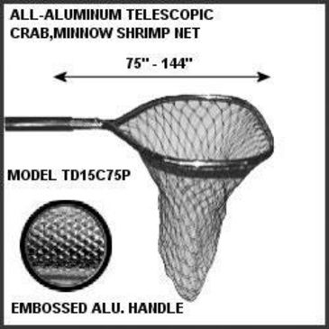 Tackle Factory Aluminum Poly Crab Net W/telecpng Save 15% Brand Tackle Factory.