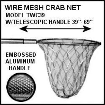 Tackle Factory Aluminum Wire Crab Net W/telescoping Handle Save 16% Brand Tackle Factory.