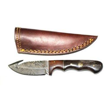 Titan Damascus Skinning Gut Hook, Hunting Knife By Titan Td-176free 2 Day Shipping Brand Titan International Knives.