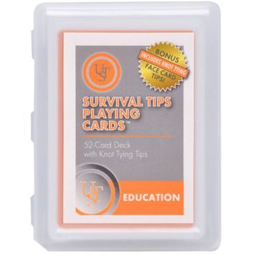 Ust Survival Tips Playing Cards With Knot Tips Save 21% Brand Ust.