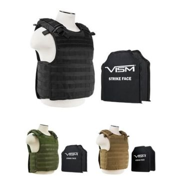 Vism 2964 Series Quick Release Plate Carrier W/ Two Ballistic Plates Save Up To 21% Brand Vism.