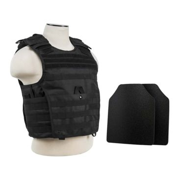 Vism Expert Plate Carrier Vest W/2 10x12in Level Iiia Shooters Cut Hard Ballistic Panels Save 17% Brand Vism.