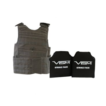 Vism Expert Plate Carrier Vest W/two Rectangle Cut Soft Ballistic Panels Save 17% Brand Vism.