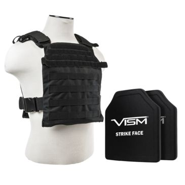 Vism Fast Plate Carrier W/2 10x12in Level Iii And Pe Shooters Cut Hard Ballistic Plates Save 21% Brand Vism.