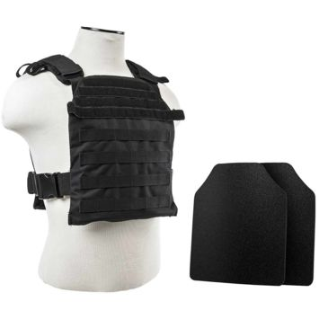 Vism Fast Plate Carrier W/2 10x12in Level Iiia Shooters Cut Hard Ballistic Plates Save 15% Brand Vism.