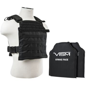 Vism Fast Plate Carrier W/2 10x12in Level Iiia Shooters Cut Soft Ballistic Panels Save $10.00 Brand Vism.