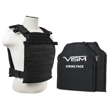 Vism Larger Fast Plate Carrier W/2 11x14in Level Iiia Shooters Cut Soft Ballistic Panels Save 18% Brand Vism.