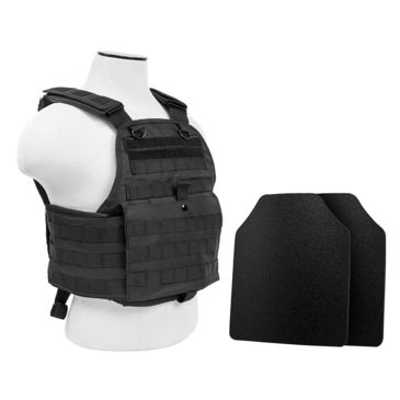 Vism Plate Carrier Vest W/2 10x12in Level Iiia Shooters Cut Hard Ballistic Panels Save 17% Brand Vism.