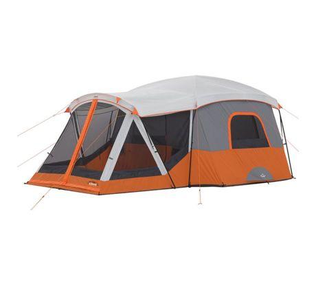 Core Equipment 11 Person Cabin Tent W Screen Room Orange