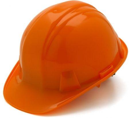 Pyramex Cap Style 4 Point Ratchet Suspension Hard Hat - Orange