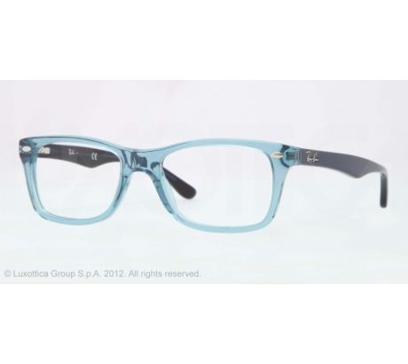 ray ban eyeglass frames warranty  opplanet ray ban eyeglass frames rx5228 5235 50 trasparent blue frame demo lens lenses