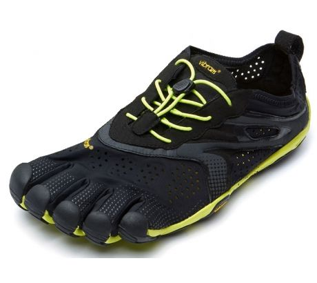 size 40 0f14b 14ad1 Details about Vibram FiveFingers V-Run Road Running Shoe -  Men's-Black/Yellow-Medium-43