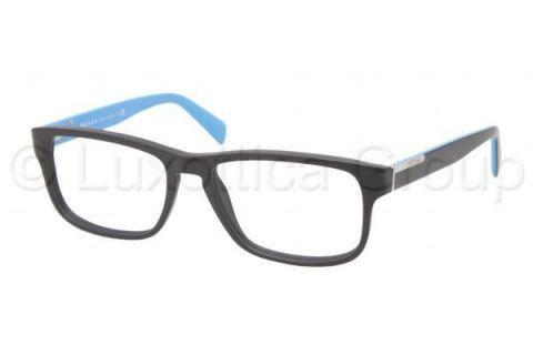 Prada PR07PV Eyeglass Frames 1BO1O1-5417 - Matte Black ...