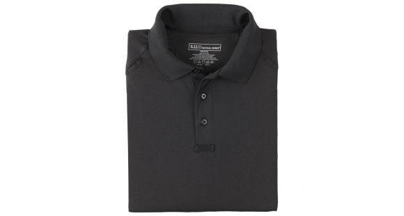 c769df89f 5.11 Tactical 72049 Performance Polo Shirt, Long Sleeve, Black, Large