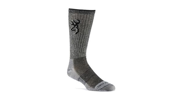 1d1372c7aa99 Browning Socks Mens Midweight Merino Year Rounder, Black, L A000260600104