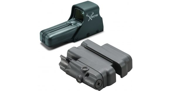 EOTech 512 Red Dot w/ Crossbow Pattern Reticle, Range Assist Black 512 XBOW  w/ Laser and IR Battery Cap LBC2 — Color: Black, Magnification: 1,