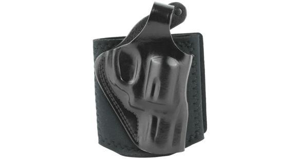 Galco Ankle Glove Holster - Right Hand, Black, Thumb Break Retention Strap,  S&W J Fr, Taurus 2in AG160B