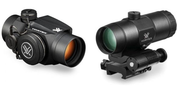 vortex sparc ii red dot 2 moa with 3x magnifier