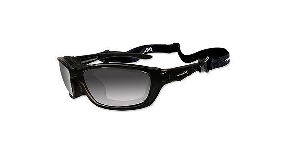 27cade77c5 Wiley X Brick Sunglasses - Polarized Smoke Grey Lens   Gloss Black Frame