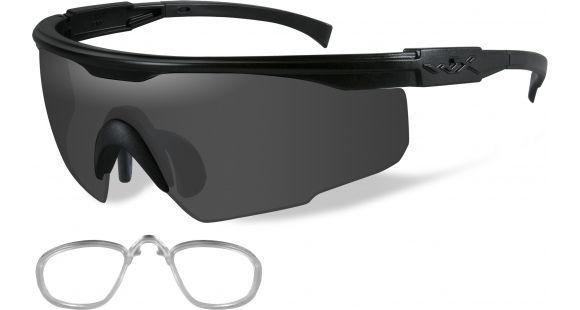 30be35f287b5 Wiley X PT-1 Sunglasses - 3 Lens Package, 1 Matte Black Frame w/Smoke Grey, Clear,Light Rust Lens w/ RX Insert, PT-1SCLRX — Frame Color: Matte Black,  ...